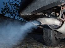 Auspuff eines Dieselfahrzeugs