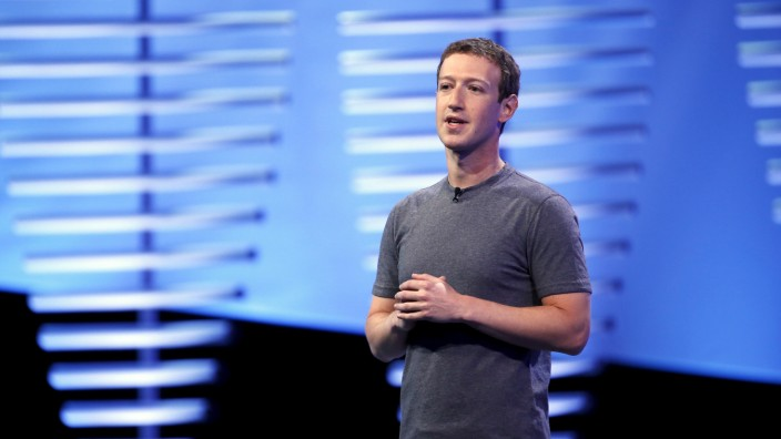 Facebook CEO Mark Zuckerberg speaks on stage during the Facebook F8 conference in San Francisco, California