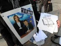 Demonstration zu Schließung von Schlecker-Filialen