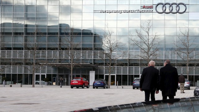 Headquarters of German car manufacturer Audi are pictured in Ingolstadt