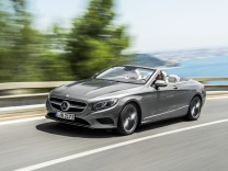 Mercedes S-Klasse Cabrio Front Seite Fahrbild als S 500
