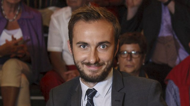 Boehmermann, host of the late-night 'Neo Magazin Royale' on the public ZDF channel is pictured during a TV show in Hamburg