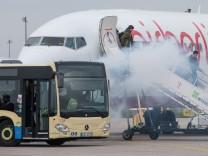 Notfallübung am künftigen Flughafen Berlin Brandenburg