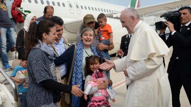 Papst Franziskus Flüchtlingskrise