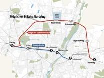 Grafik München S-Bahn Nordring