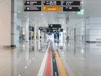 Satellitenterminal am Flughafen München, 2016