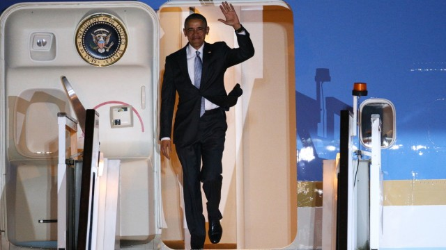 President Obama And The First Lady Arrive In The UK