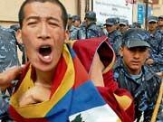 Tibet Mönch; dpa