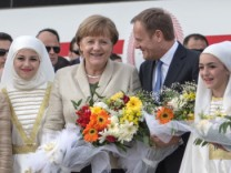 German Chancellor Merkel visits Nizip Refugee Camp