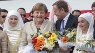 German Chancellor Merkel visits Nizip Refugee Camp