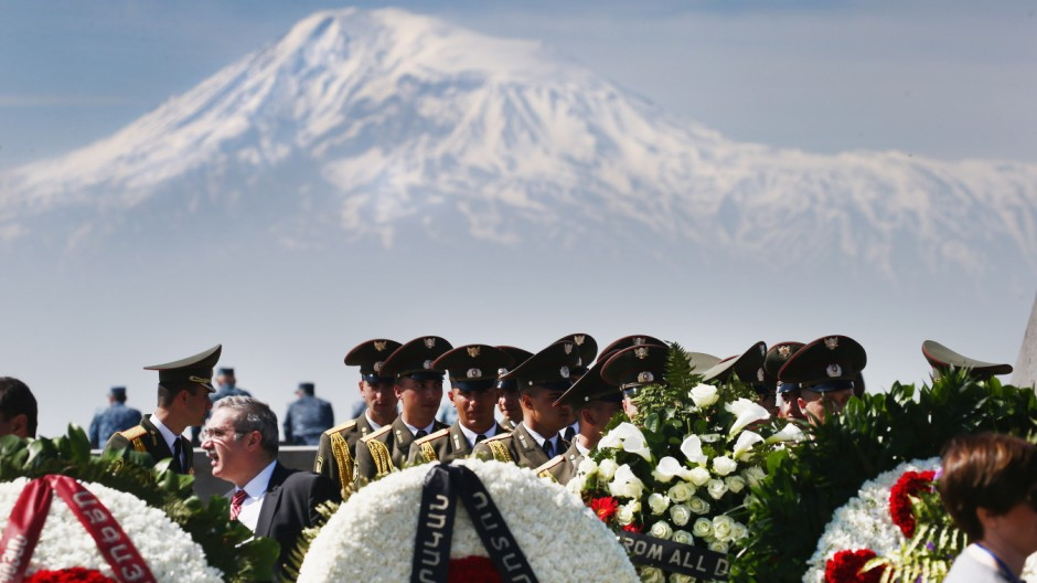 101st Anniversary of the Armenian Genocide, Genocide Memorial in Yerevan, Armenia