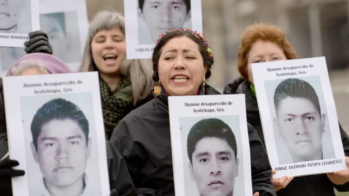 Protestaktion gegen Folter und Verschwindenlassen in Mexiko