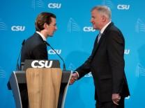 Seehofer trifft Österreichs Außenminister