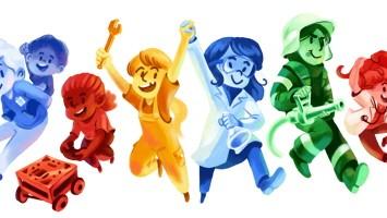 Girls' Day und Boys' Day 2016: Google Doodle am 28.4.2016