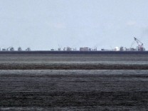 File photo of the alleged on-going land reclamation of China at Subi reef seen from Pagasa island (Thitu Island) in the Spratlys group of islands in the South China Sea