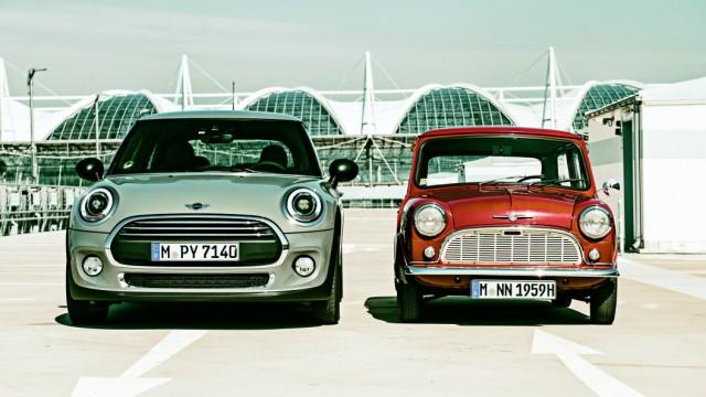 Der neue Mini One und der alte Mini