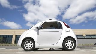 Google Car auf dem Google Campus in Mountain View