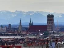 Fernsicht über München