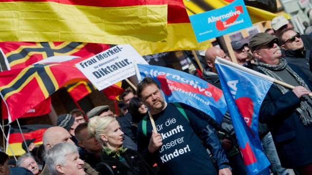 AfD-Demonstration in Stralsund