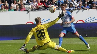 Tor zum 1 1 Ausgleich für Hoffenheim V li Örjan Nyland Ingolst Torschütze Mark Uth Hoffenh
