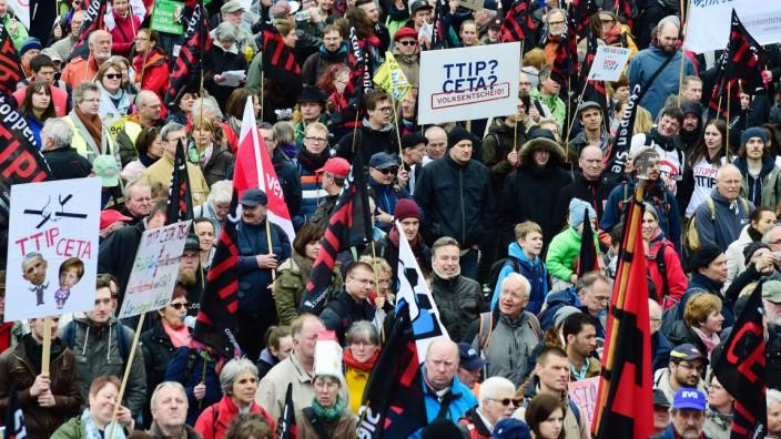 TTIP Ceta Demonstration NGO