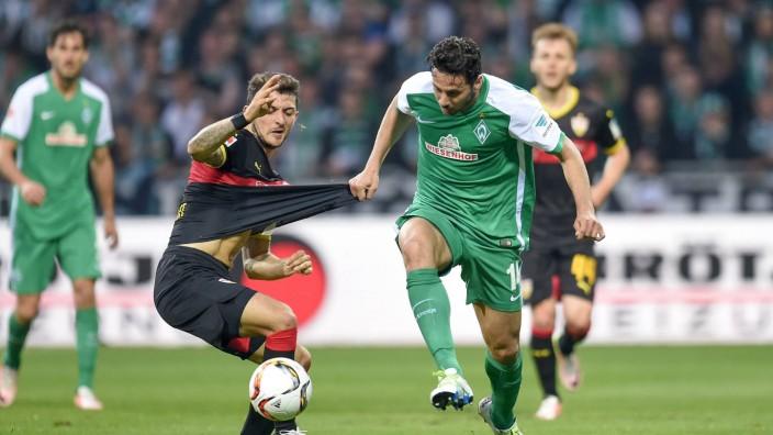 FUSSBALL 1 BUNDESLIGA SAISON 2015 2016 32 SPIELTAG SV Werder Bremen VfB Stuttgart 02 05 2016 Mat