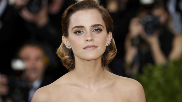 Actress Emma Watson arrives at the Met Gala in New York