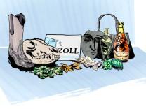 """Illustration für Serie """"Gute Reise"""" Reiseethik Zoll Souvenir Verbot illegal"""