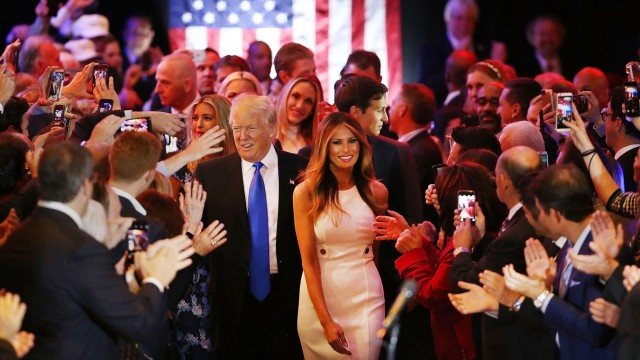 GOP Presidential Candidate Donald Trump Holds Indiana Primary Night Gathering In New York