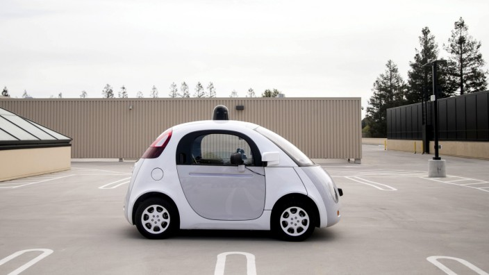 File photo of a prototype of Google's own self-driving vehicle in Mountain View California