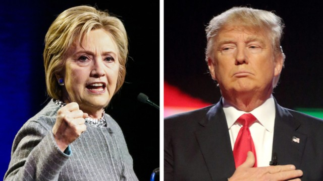 Hillary Clinton, Donald Trump und Bernie Sanders