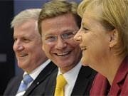 Merkel, Westerwelle, Seehofer, ddp