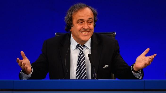 UEFA Champions League Final - Previews; michel