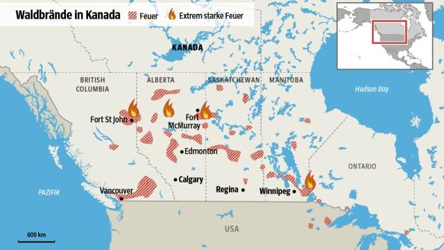 Waldbrände in Kanada Waldbrände in Kanada