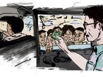 Gute Reise Illustration Bettler