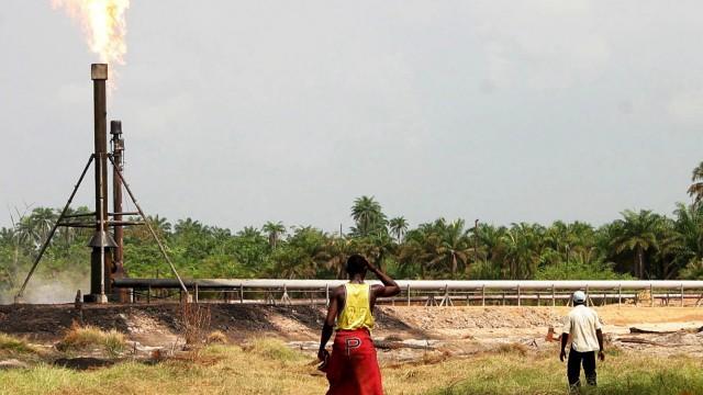 Öl-Industrie in Nigeria