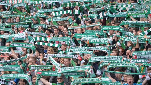 Fans von Werder Bremen im Weserstadion