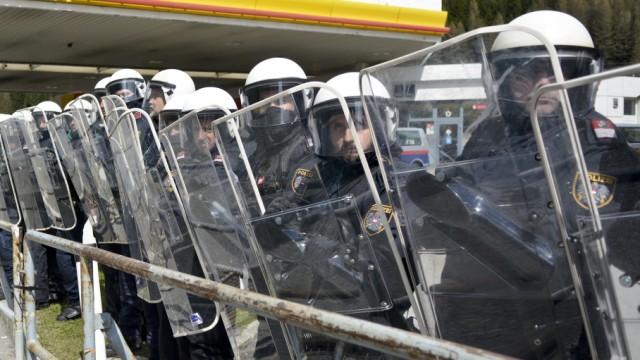 Demo gegen Grenzkontrollen am Brenner, 2016