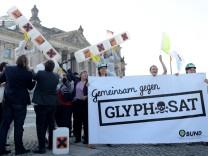 Protest gegen Glyphosat-Zulassung