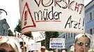 Ärzte der kommunalen Kliniken von Kehl, Lahr und Offenburg demonstrieren