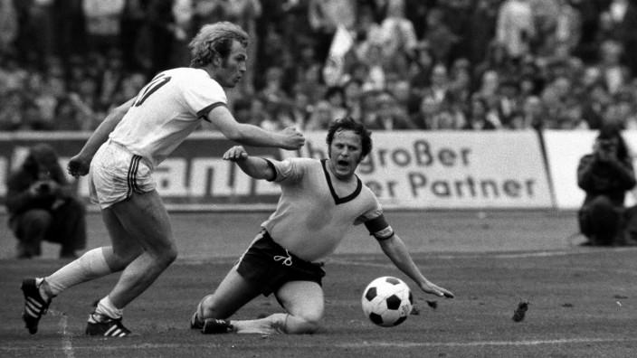 Uli Hoeneß FC Bayern München gegen Dieter Hoppy Kurrat Borussia Dortmund