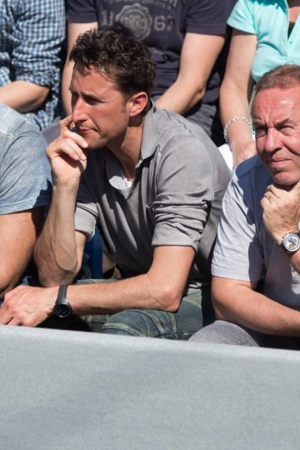 R L Dominic Thiem Trainer Guenter Bresnik Vater Wolfgang und Werner Latzelsberger Team Thiem Tenni