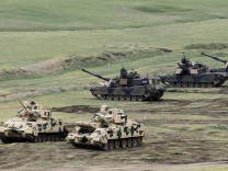Joint military exercise of forces from Georgia, Britain and the U
