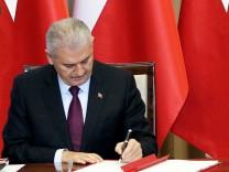 Turkish prime Minister Recep Tayyip Erdogan visits Poland