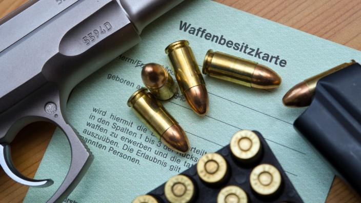 Waffenbesitzkarte: In Stadt und Landkreis München gibt es mehr als 65000 legale Schusswaffen.