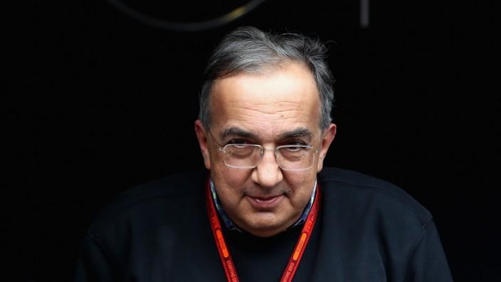 FCA-Chef Sergio Marchionne beim Formel-1-Rennen in Spanien