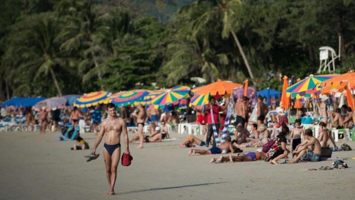 Patong beach in Phuket, southern Thailand