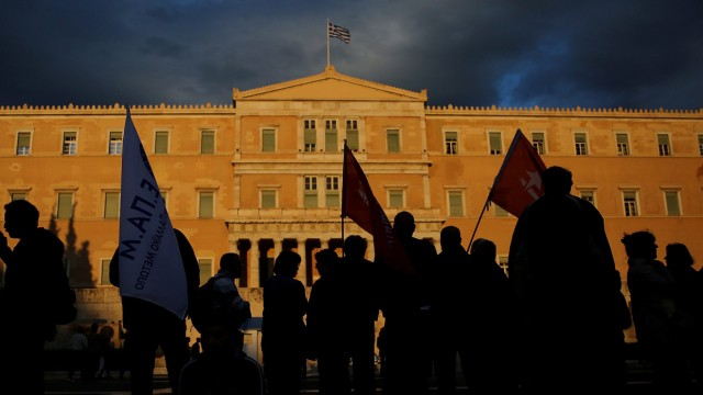 Protest against an omnibus bill tabled by the Greek government th