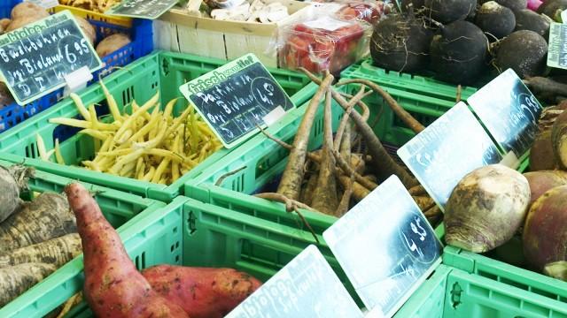 Biolebensmittel Gemüsemarkt