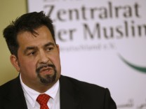Chairman of the Central Council of Muslims in Germany Mazyek gives a statement in Berlin